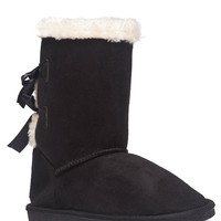 Bow Back Cozy Boots | Wet Seal