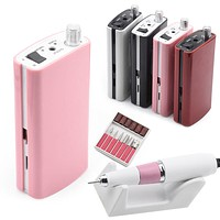 Portable Rechargeable Nail Drill Machine Set