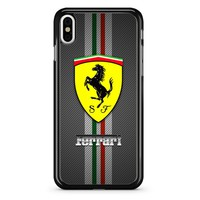 Ferrari Logo Carbon Art 2 iPhone X Case