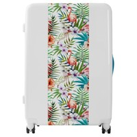 Flamboyant Flamingo Tropical nature garden pattern Luggage