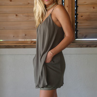 Give Me Olive You Tank Dress