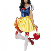 Adult Snow White Costume Cosplay Fantasia Halloween Costumes For Women Princess Dress Fancy Party Dress