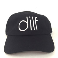 The Dilf Dad Hat in Black