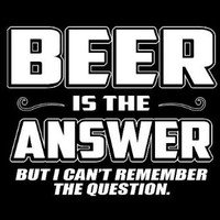 Men's Humorous Short Sleeve T-Shirt [Black] Beer is the Answer But I Can't Remember the Question (Available in size Small to Extra Large), Medium