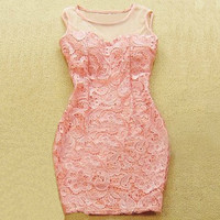 Temperament sexy lace package hip dress  BAFJ