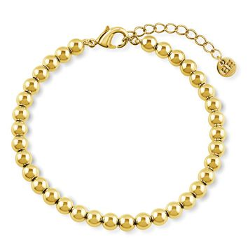 Gold-Tone Bead Bead BraceletBe the first to write a reviewSKU# b288-02