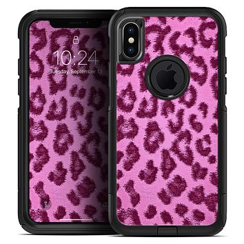 Neon Pink Cheetah Animal Print - Skin Kit for the iPhone OtterBox Cases