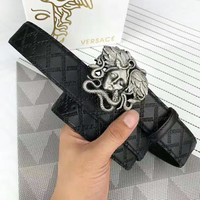 Versace new classic buckle head wild men's casual fashion smooth buckle belt