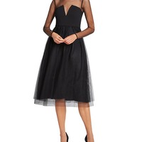 BCBGenerationIllusion Detail Dress - Bloomingdale's Exclusive
