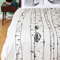 Rustic Tree Cheers Duvet Cover in Full, Queen by ModCloth