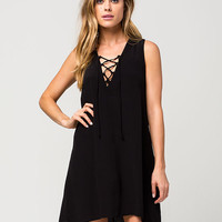 ELAN Lace Up Coverup Dress   Coverups