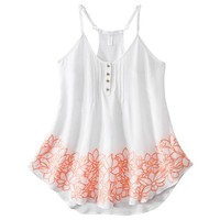 Xhilaration® Juniors Embroidered Tank - Assorted Colors