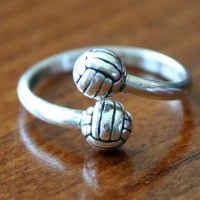Volleyball Sterling Silver (Adjustable Ring)