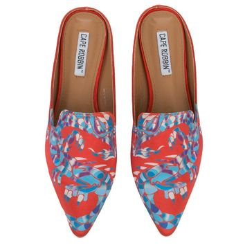 Cape Robbin Cell-13 Women's Red Mules