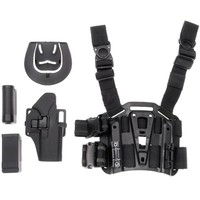 CQC Glock 17 18 19 26 Right Leg Gun Holster Military Airsoft Tactical Pistol Holster With Flashlight Pouch Mag Pouch