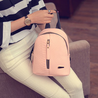 LEFTSIDE 2016 Cute Korean Small New Women Bag Packs Quality PU Leather Fashion Bags Mini Backpack women's backpacks Back Pack