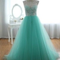 Stock Long Prom Party Dress Evening Dress Ball Gown Formal Bridesmaid Dress 6-16