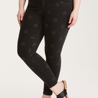Torrid Jeggings - Star Print Black Wash