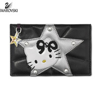 Swarovski HELLO KITTY ROCK Card Holder Purse Black #1162837