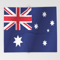 Flag of Australia Throw Blanket by PRODUCTPICS
