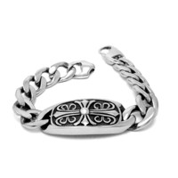 Awesome Shiny New Arrival Great Deal Gift Hot Sale Vintage Cross Men Korean Stylish Titanium Strong Character Jewelry Bracelet [6526711299]