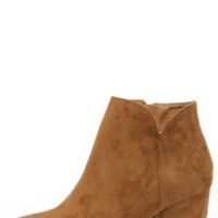 Notch Your Average Tan High Heel Ankle Boots