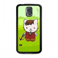 Cute Daryl Dixon Hello Kitty The Walking Dead For samsung galaxy s5 case