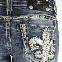 Miss Me Sequin Stretch Cropped Jean