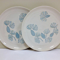 Blue Spruce Pine Cone Plates Stetson Marcrest China