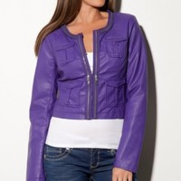 Amazon.com: G by GUESS Lala Cropped Jacket: Clothing