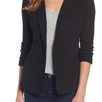 Caslon® Knit One-Button Blazer (Petite) | Nordstrom