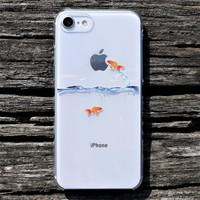 Goldfish Hard Shell Clear iPhone Case