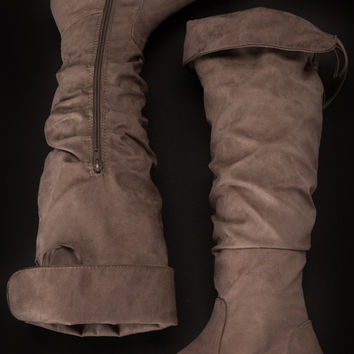 Naughty or Nice Taupe Boots