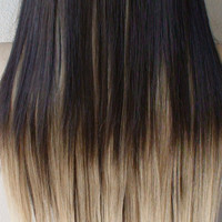 """Set of 8pc / 18"""" Heat Resistant Blonde Ombre Synthetic Hair Extension"""