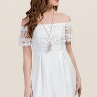 Sandra Lace Off Shoulder Dress
