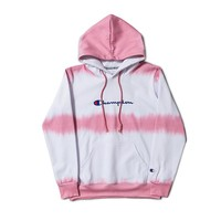 Pink Champion Womens Fleece Pullover Hoodie