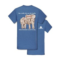 Southern Couture Preppy Stick Together Elephants T-Shirt