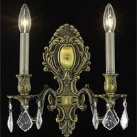 Sage - Wall Sconce (2 Light Traditional Crystal Wall Sconce) - 8162W10