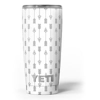 Vertical Acsending Arrows - Skin Decal Vinyl Wrap Kit compatible with the Yeti Rambler Cooler Tumbler Cups