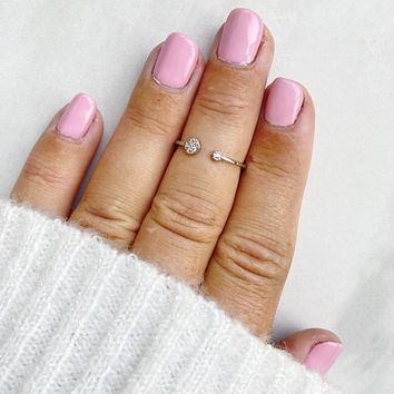 A Touch of Sparkle Silver Midi Ring