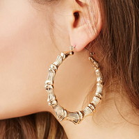 Textured Curved Hoop Earrings | Forever 21 - 1000151728