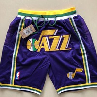 1993-94 Utah Jazz Vintage Embroidered Pocket Zipper Ball Pants