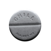 "CHILL PILL - 1.25"" pin, happy pills, prescription drugs, novelty button"