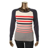 Tommy Hilfiger Womens Modal Blend Long Sleeves Pullover Sweater
