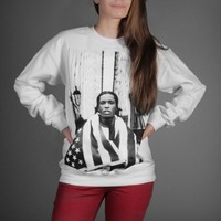 ASAP Rocky The Bridge Ladies Sweatshirt - WeHustle.co.uk | U want it WE got it | WeHustle Enterprises Limited.
