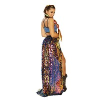 Rave FF361 - Sequin Harness Gypsy Skirt - J Valentine