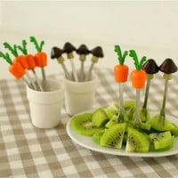Home Decor Stainless Steel Silicone Gifts Fruit Fork [6281772358]