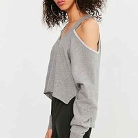 Silence + Noise Asymmetrical Cold-Shoulder Top - Urban Outfitters