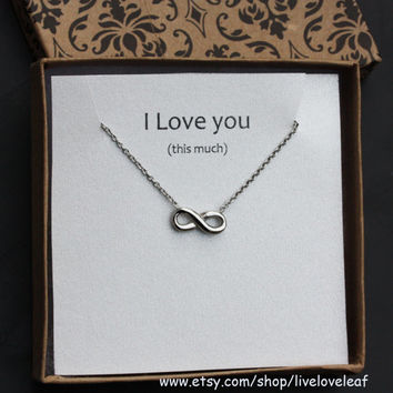 Silver Infinity Necklace - Simple Infinity Pendant in Stainless Steel (Silver tone), Perfect Gift idea, Love Jewelry, Simple Everyday