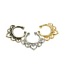 Fashion Fake Septum Nose Rings Faux Piercing Nose Hoop Nose Studs Body Jewelry